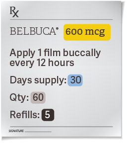 belbuca prescription